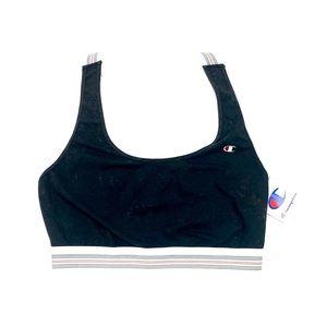 Champion Women's Black Sports Bra Size Large NWTS